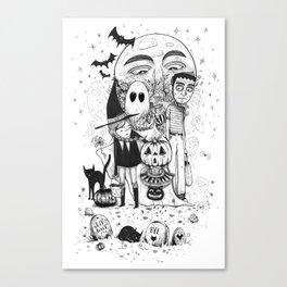 Halloween toothache Canvas Print