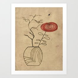 Autumn flowers in vase Art Print