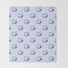 Kawaii Galactic Mighty Panda pattern Throw Blanket