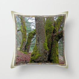 TWO BIG LEAF MAPLE TREES Throw Pillow