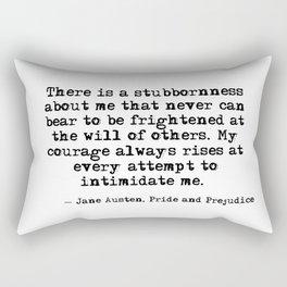 My courage always rises - Jane Austen Rectangular Pillow