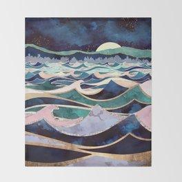 Moonlit Ocean Throw Blanket