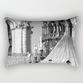 Notre Dame Roofscape Rectangular Pillow