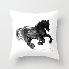 Horse (Devil cantering) Throw Pillow