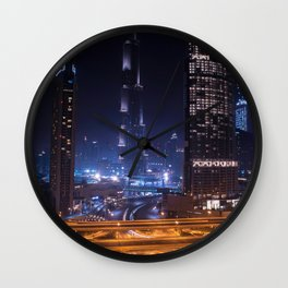 Rooftopping in Dubai Wall Clock