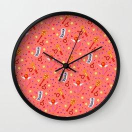 Sailor Mars Pattern / Sailor Moon Wall Clock