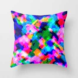 Cloudy Glitch Pattern Throw Pillow