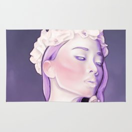 Purple Sentinel Portrait Painting - Airbrushed - Dream Collection Rug