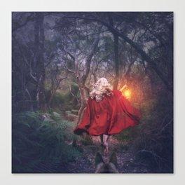 Run Red Canvas Print