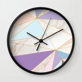 Rose Quart & Purple Spectrum Wall Clock