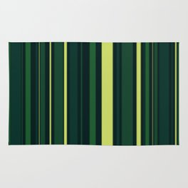 Yellow and Shades of Green Stripes Rug