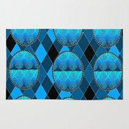 FDL BLUE Holiday Pattern Rug