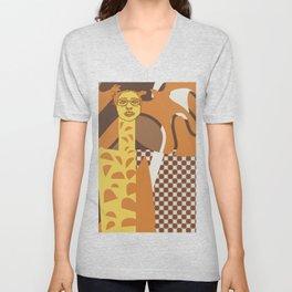 Giraffe wannabe Unisex V-Neck