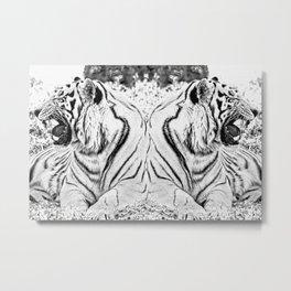 Tigers mirror Metal Print