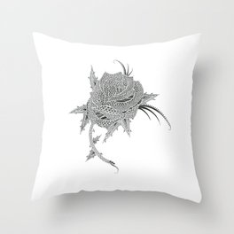 Rose Tattoo Design Throw Pillow
