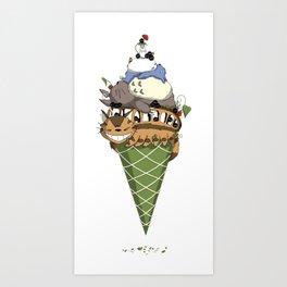 Matcha Forest Crunch Art Print