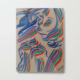 Flow with the Colours Metal Print