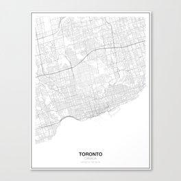 Toronto, Canada Minimalist Map Canvas Print