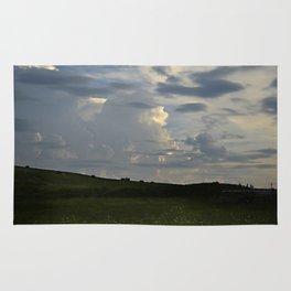 Sunset Cloudscape Rolling Hills Hay Rolls Rug