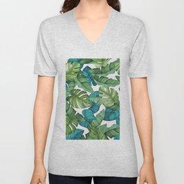 Tropical leaves II Unisex V-Neck