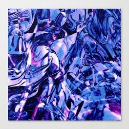 Fluid Painting 3 (Blue Version) Canvas Print