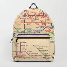 Vintage London Underground Map Backpack