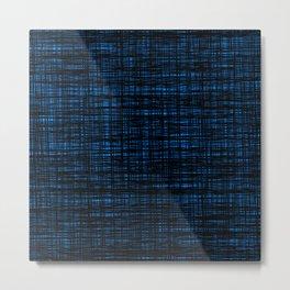 platno (black and blue) Metal Print