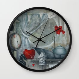 Best time for fairytales and tea Wall Clock