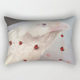 White Shadows: The Crow Rectangular Pillow