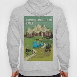 Chamonix-Mont-Blanc,France travel poster. Hoody