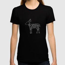Venison Butcher Diagram (Deer Meat Chart) T-shirt