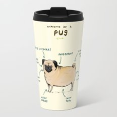 Anatomy of a Pug Travel Mug