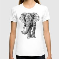 be happy T-shirts featuring Ornate Elephant by BIOWORKZ