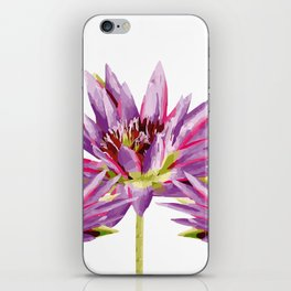 Violet Lotos - Lotus Water Lilies Flowers I iPhone Skin