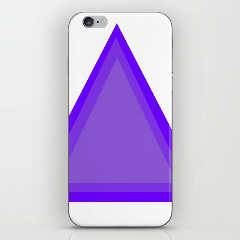Triangles: Purple On Purple Iphone & Ipod Skin by Docksideart PSK8840697