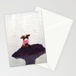 Little Cow on Mushroom Stationery Cards