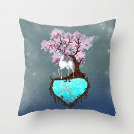 Lonely Unicorn Throw Pillow