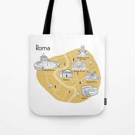 Mapping Roma - Yellow Tote Bag