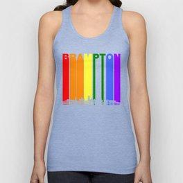 Brampton Ontario Gay Pride Rainbow Skyline Unisex Tank Top