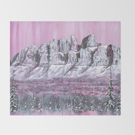 Castle Mountain Throw Blanket