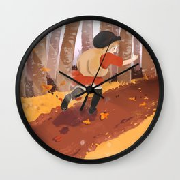 Autumn Fun Wall Clock