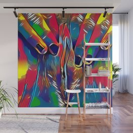 9978s-KD Abstract Yoni Pop Color Erotica Explicit Psychedelic Self Love Wall Mural