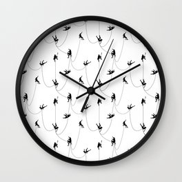 Invasion of the rock climbers Wall Clock