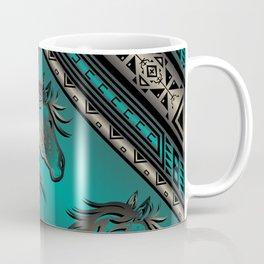 Horse Nation (Aqua) Coffee Mug