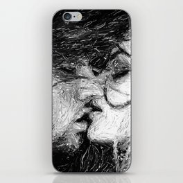 Abstract Ink Kiss iPhone Skin