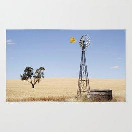 Australian Wheat-field Rural Landscape Rug