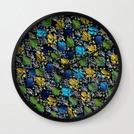 elegant modern pattern with dots circling shiny colored chick glittery Wall Clock
