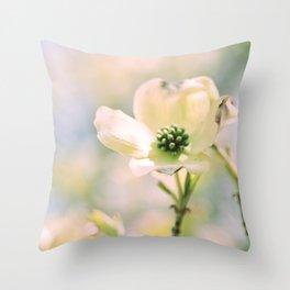 Spring Dogwood Throw Pillow