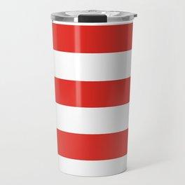 rayures blanches et rouges 7 Travel Mug