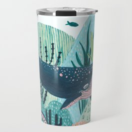 Happy Blue Whale Travel Mug
